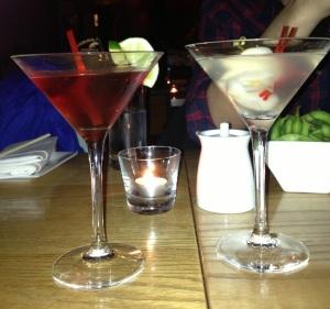 Pomegranate Cosmo & Lychee Martini